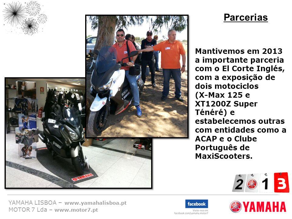 Parcerias Mantivemos em 2013 a importante parceria com o El Corte Inglés, com a exposição de dois motociclos.