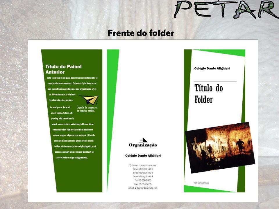 Frente do folder