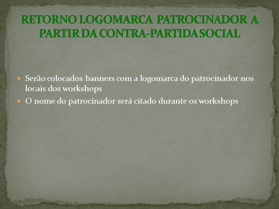 RETORNO LOGOMARCA PATROCINADOR A PARTIR DA CONTRA-PARTIDA SOCIAL