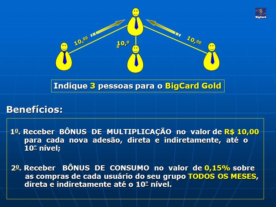 Benefícios: Indique 3 pessoas para o BigCard Gold