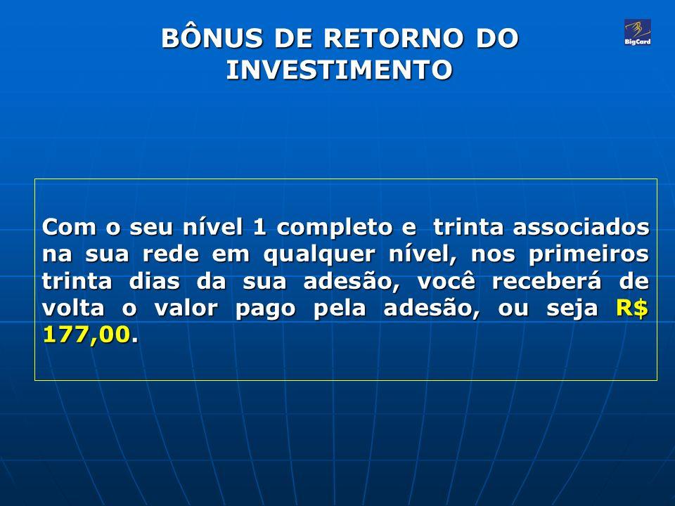 BÔNUS DE RETORNO DO INVESTIMENTO
