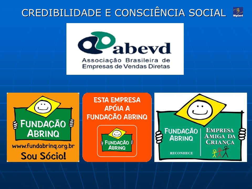 CREDIBILIDADE E CONSCIÊNCIA SOCIAL