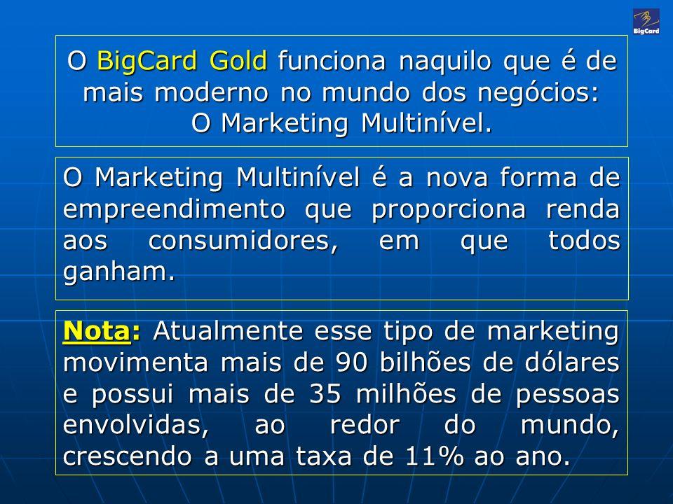 O BigCard Gold funciona naquilo que é de mais moderno no mundo dos negócios: O Marketing Multinível.