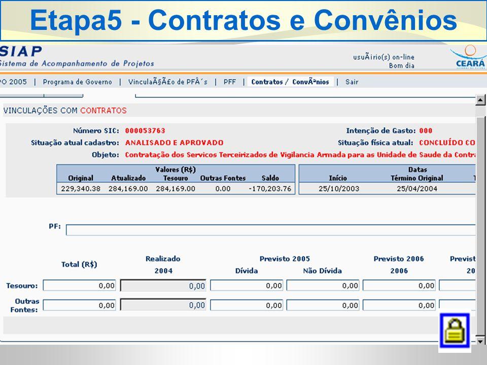 Etapa5 - Contratos e Convênios