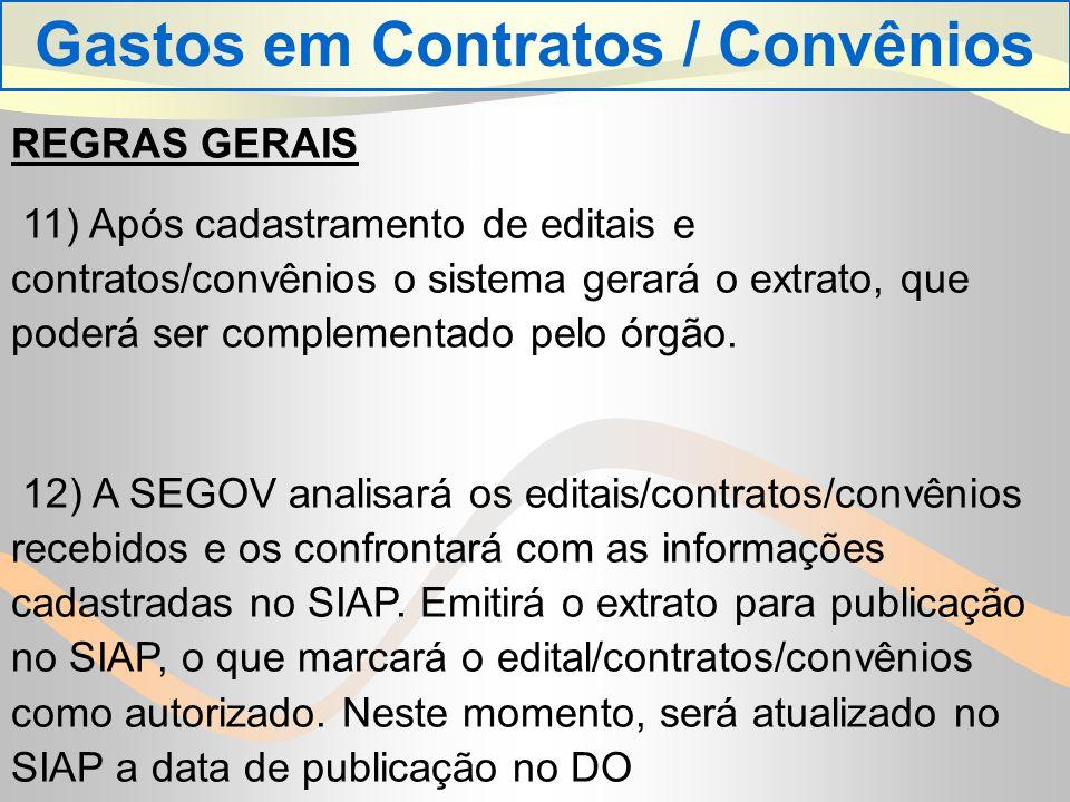 Gastos em Contratos / Convênios