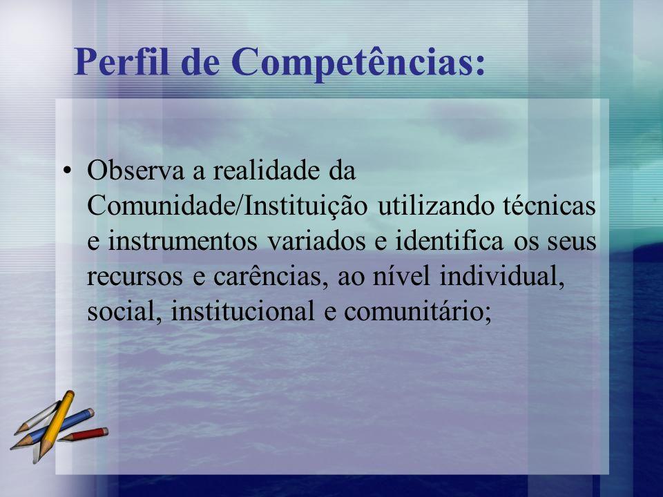 Perfil de Competências: