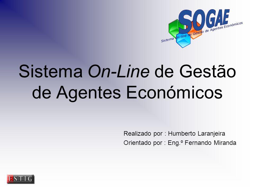 Sistema On-Line de Gestão de Agentes Económicos