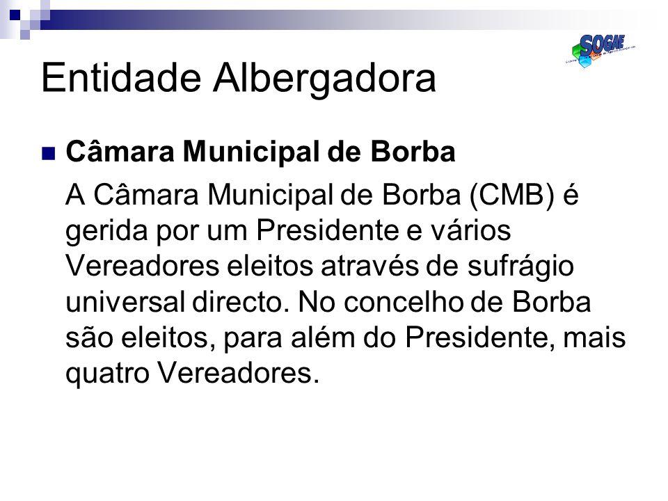 Entidade Albergadora Câmara Municipal de Borba