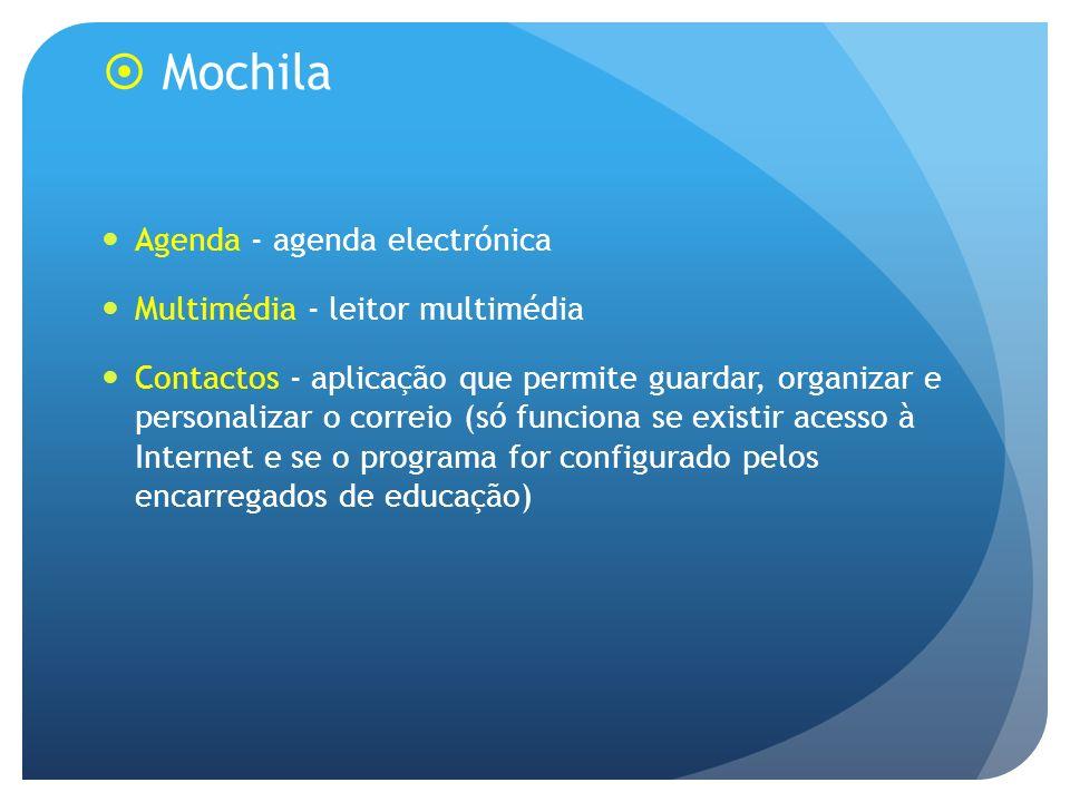 Mochila Agenda - agenda electrónica Multimédia - leitor multimédia