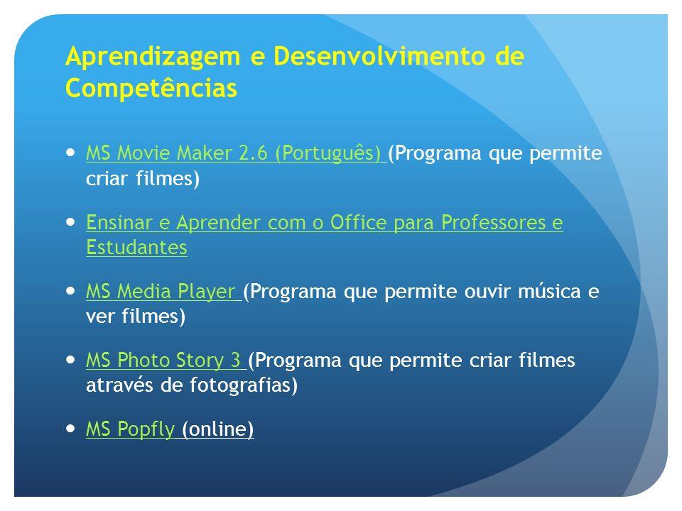 Aprendizagem e Desenvolvimento de Competências