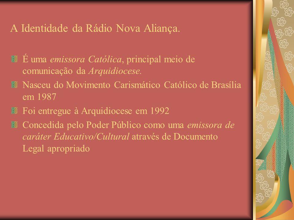 A Identidade da Rádio Nova Aliança.