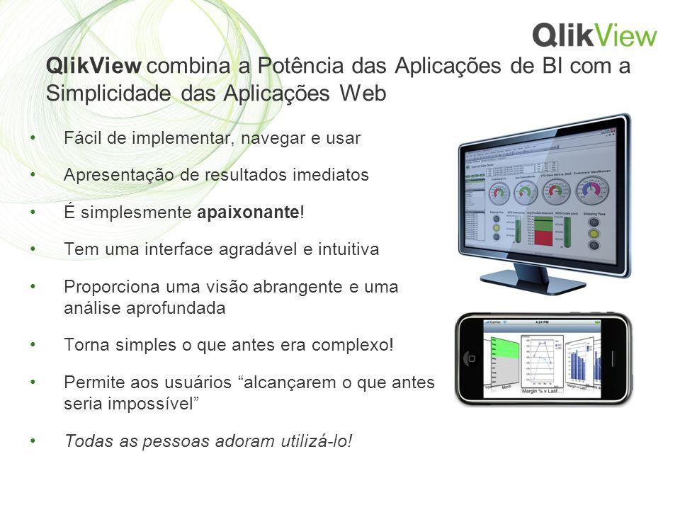 QlikView combina a Potência das Aplicações de BI com a Simplicidade das Aplicações Web