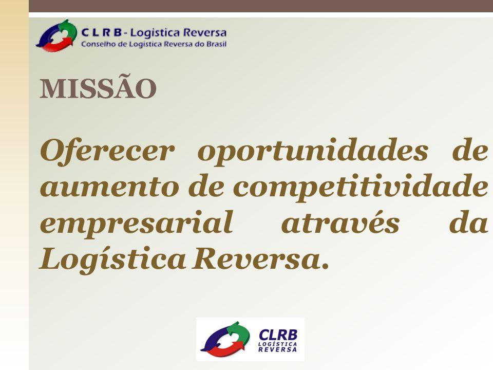 MISSÃO Oferecer oportunidades de aumento de competitividade empresarial através da Logística Reversa.