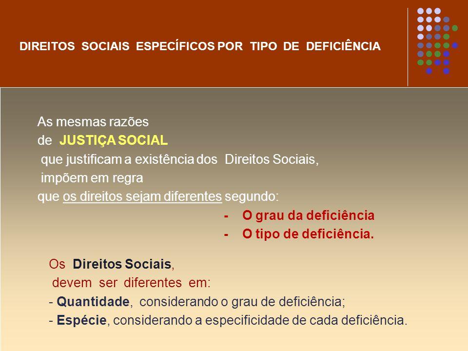 que justificam a existência dos Direitos Sociais, impõem em regra