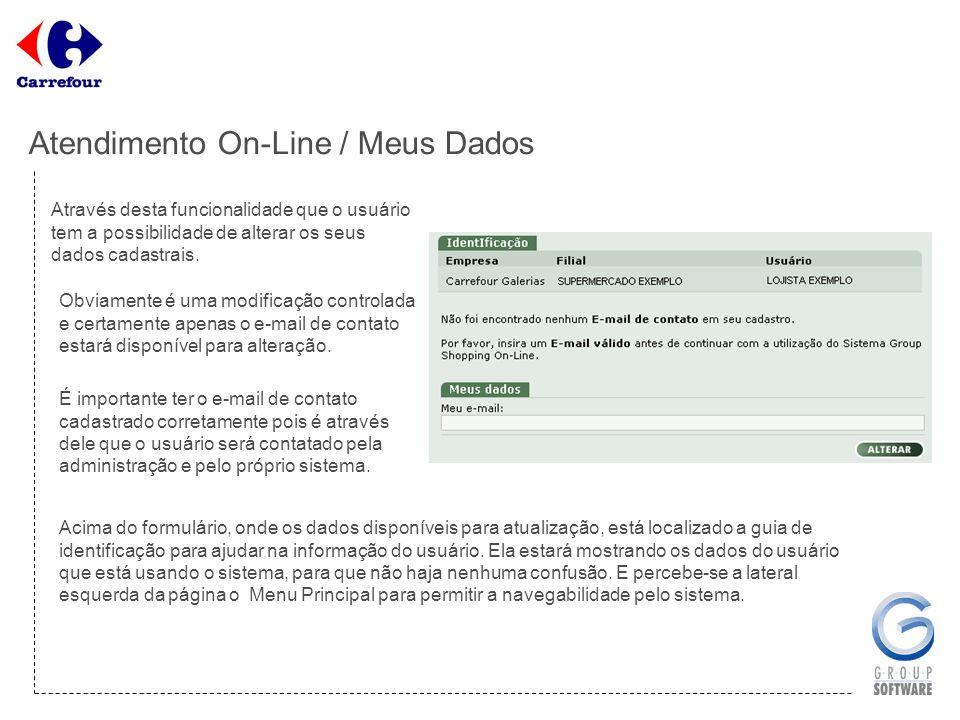 Atendimento On-Line / Meus Dados