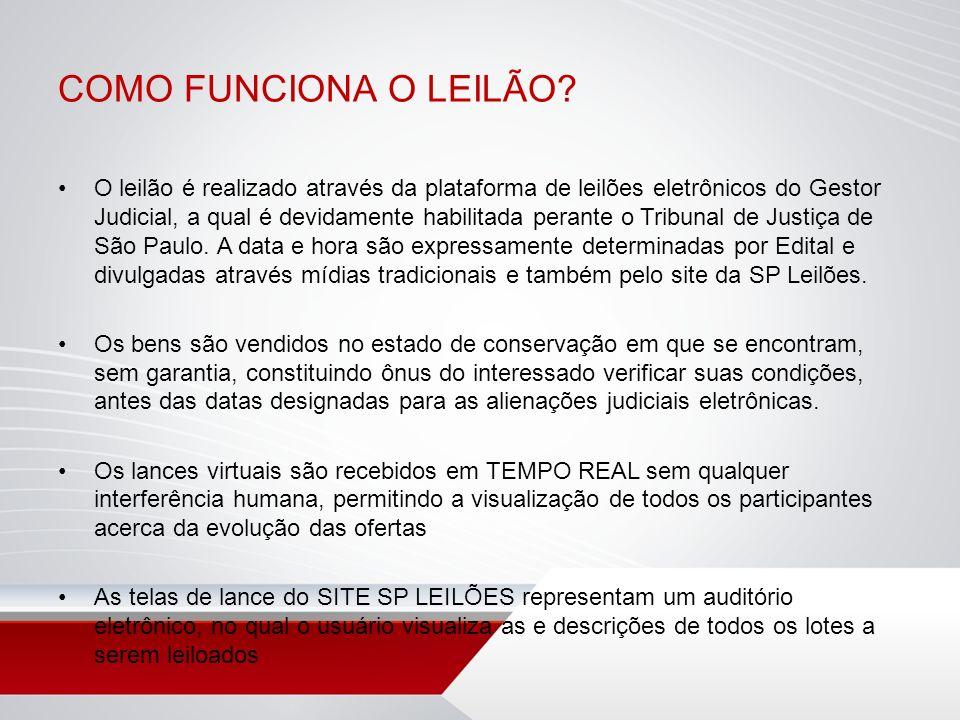 COMO FUNCIONA O LEILÃO
