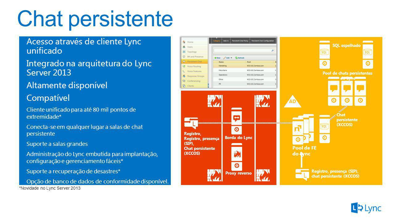 Pool de chats persistentes do Lync