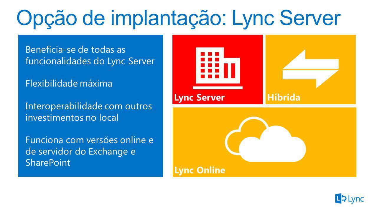 Opção de implantação: Lync Server