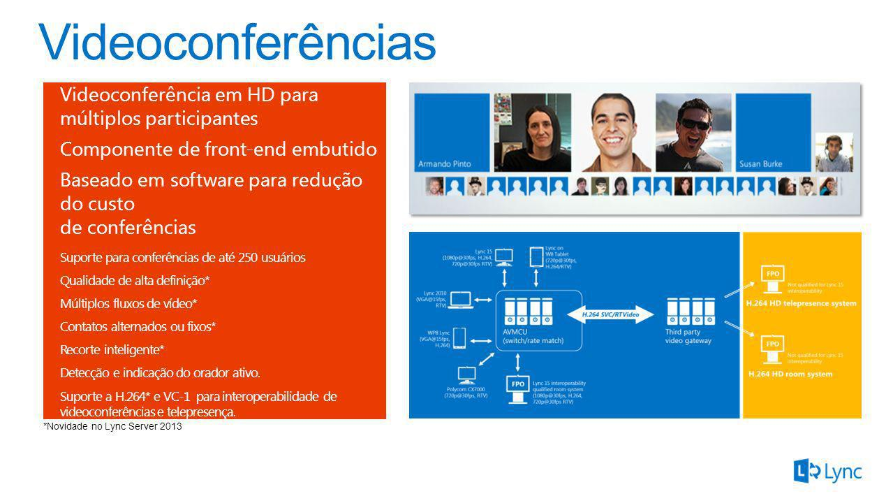 Videoconferências Videoconferência em HD para múltiplos participantes