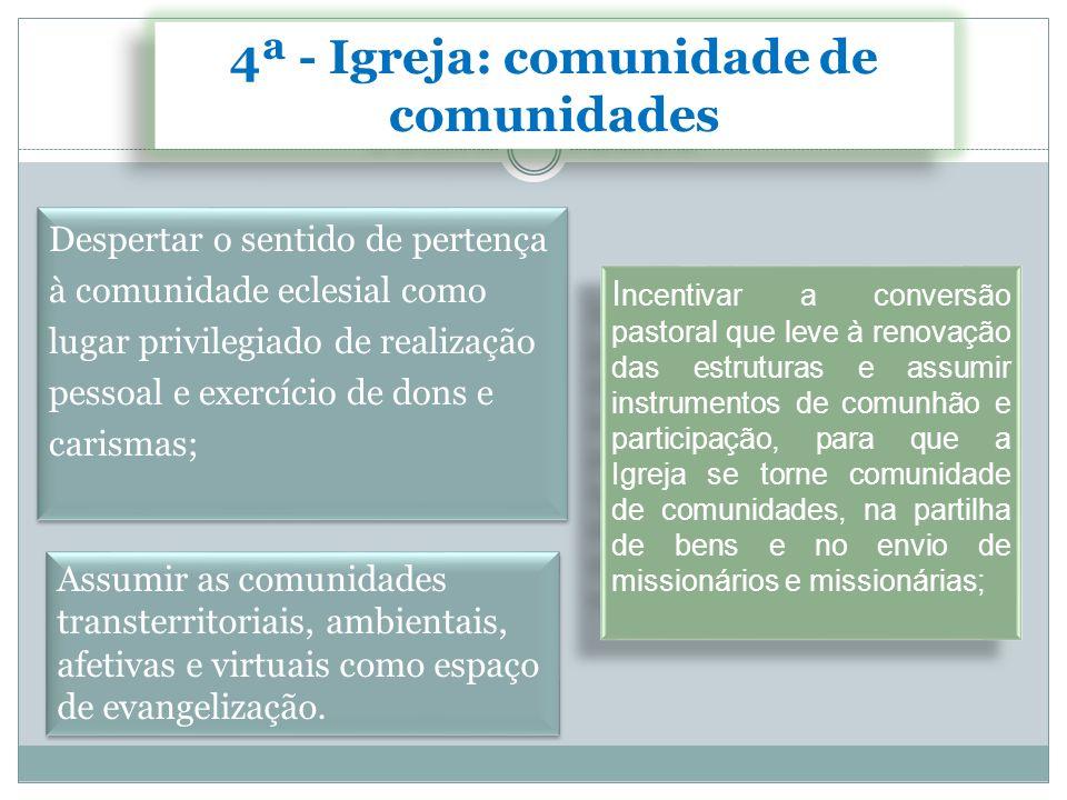 4ª - Igreja: comunidade de comunidades