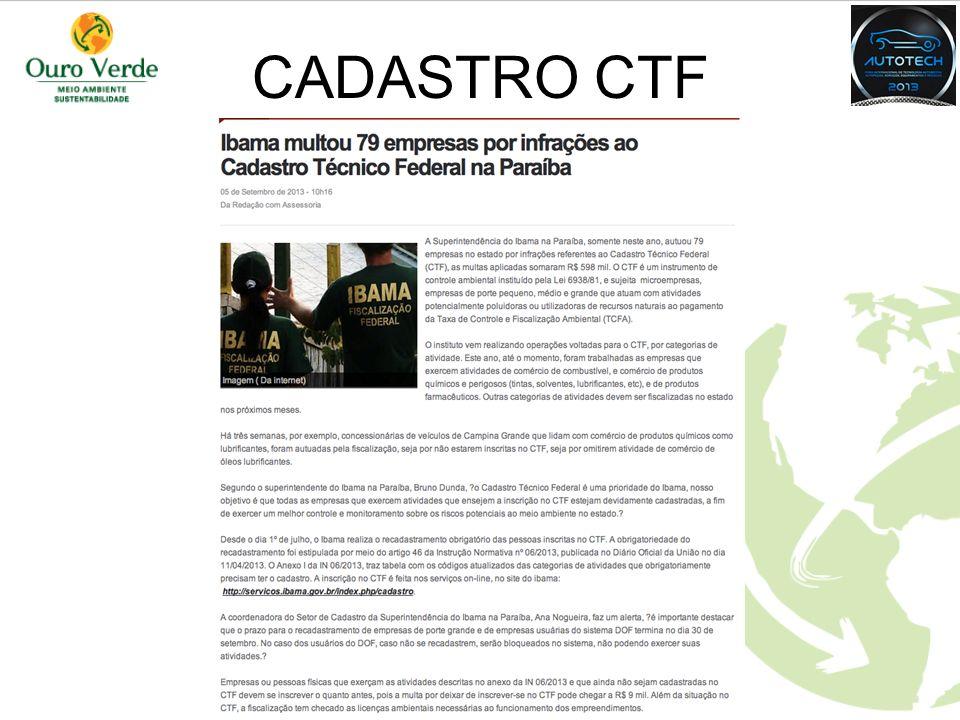CADASTRO CTF