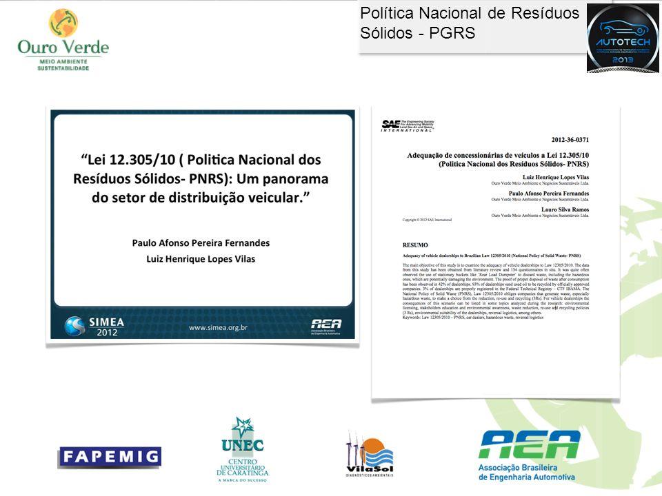 Política Nacional de Resíduos Sólidos - PGRS