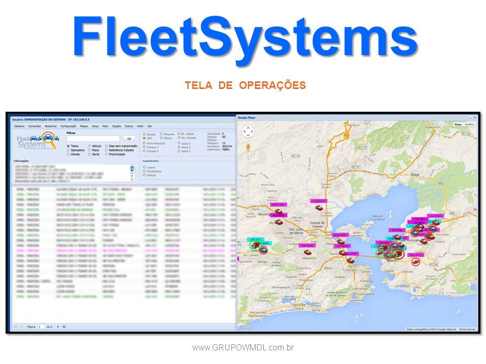 FleetSystems TELA DE OPERAÇÕES www.GRUPOWMDL.com.br