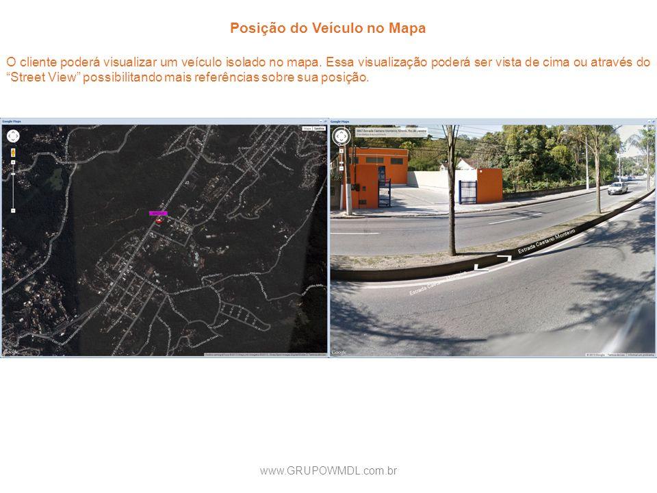 Posição do Veículo no Mapa