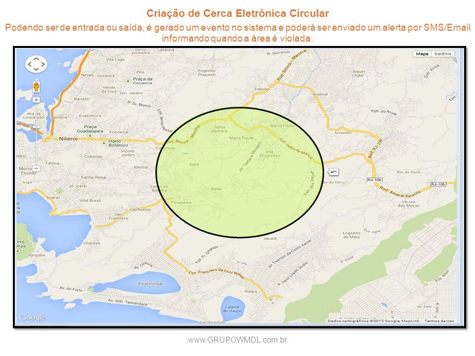 Criação de Cerca Eletrônica Circular