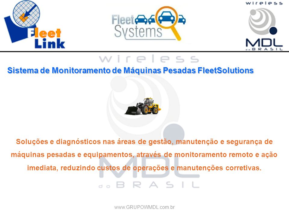 Sistema de Monitoramento de Máquinas Pesadas FleetSolutions