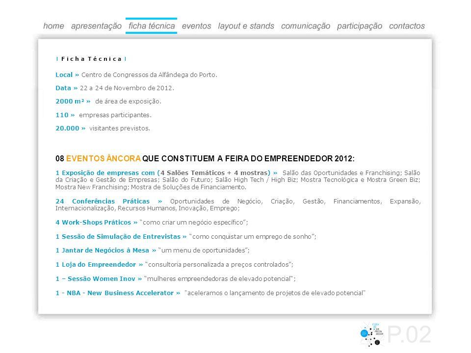 P.02 08 EVENTOS ÂNCORA QUE CONSTITUEM A FEIRA DO EMPREENDEDOR 2012: