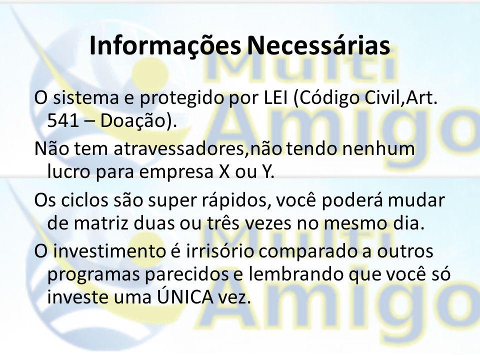 Informações Necessárias