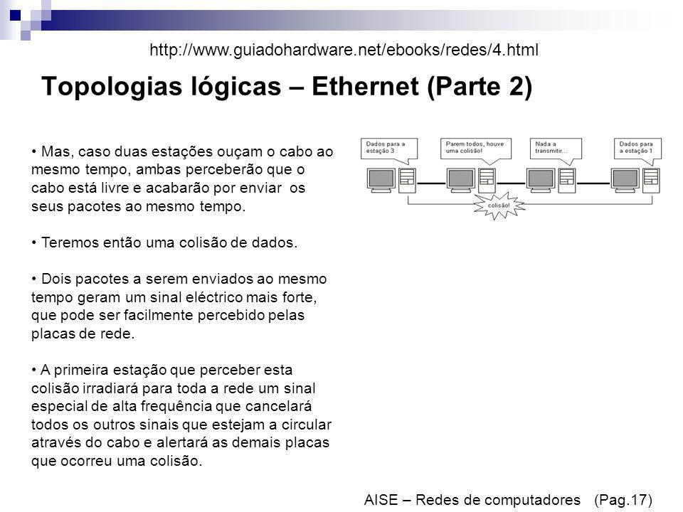 Topologias lógicas – Ethernet (Parte 2)