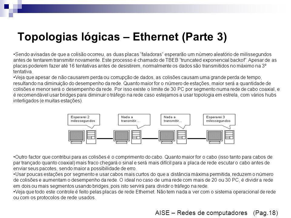 Topologias lógicas – Ethernet (Parte 3)