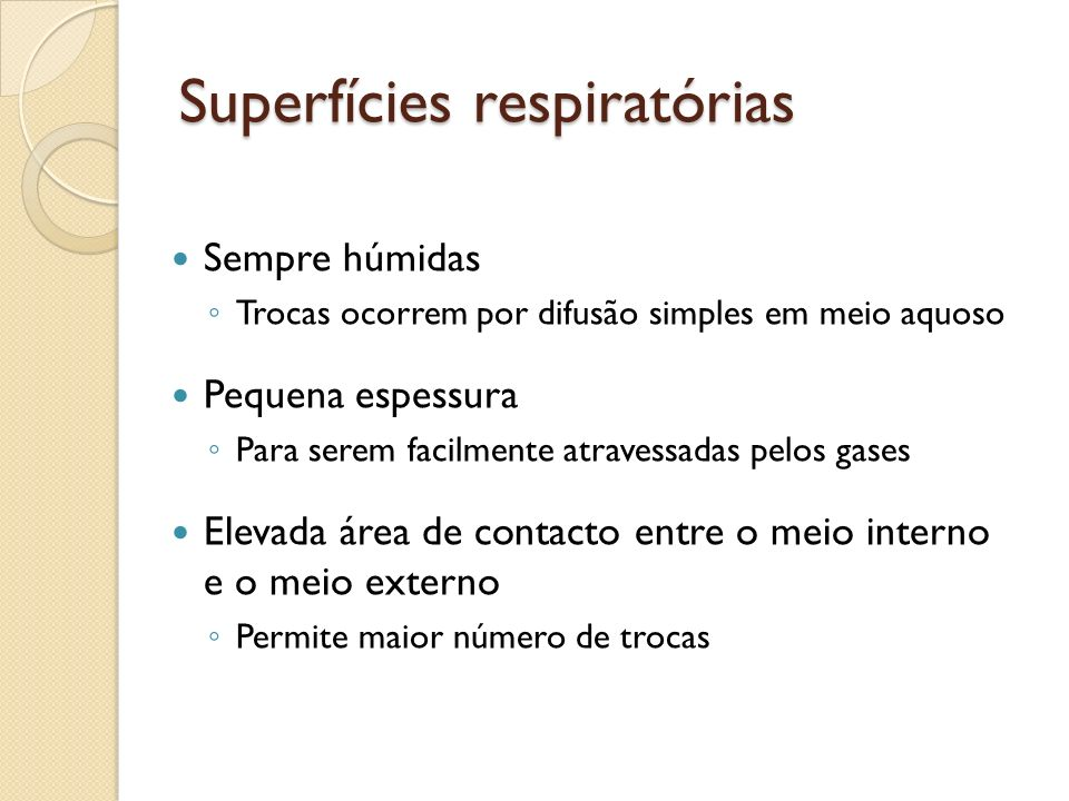 Superfícies respiratórias