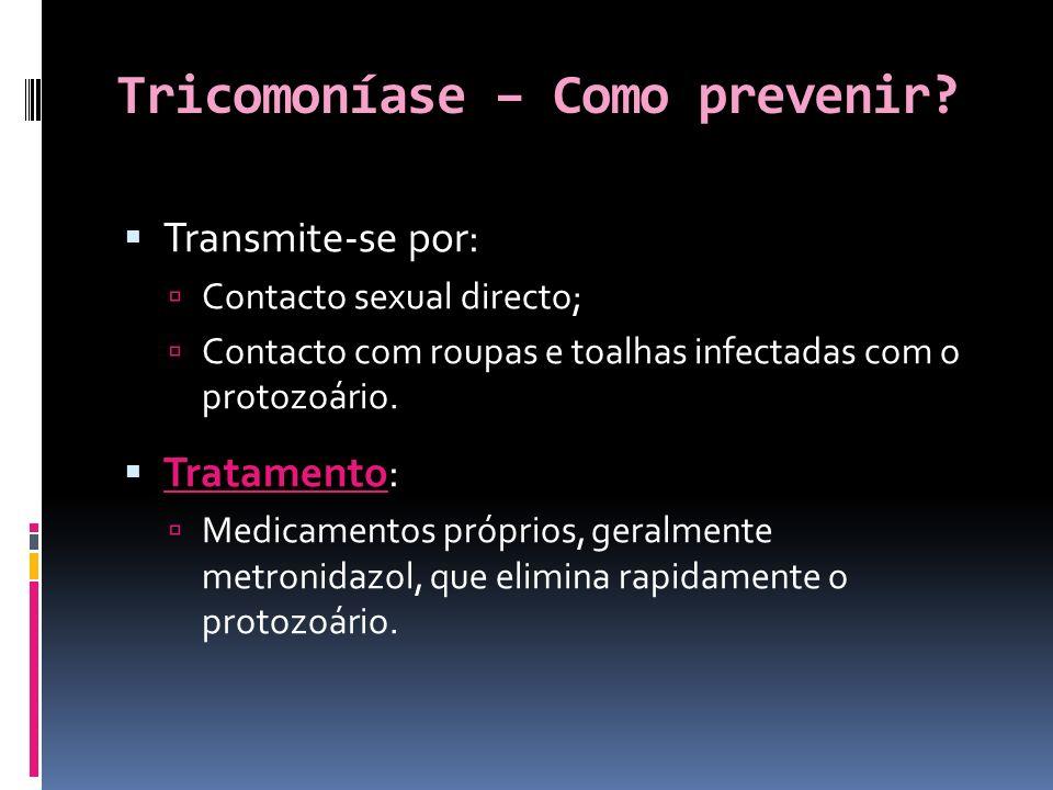 Tricomoníase – Como prevenir