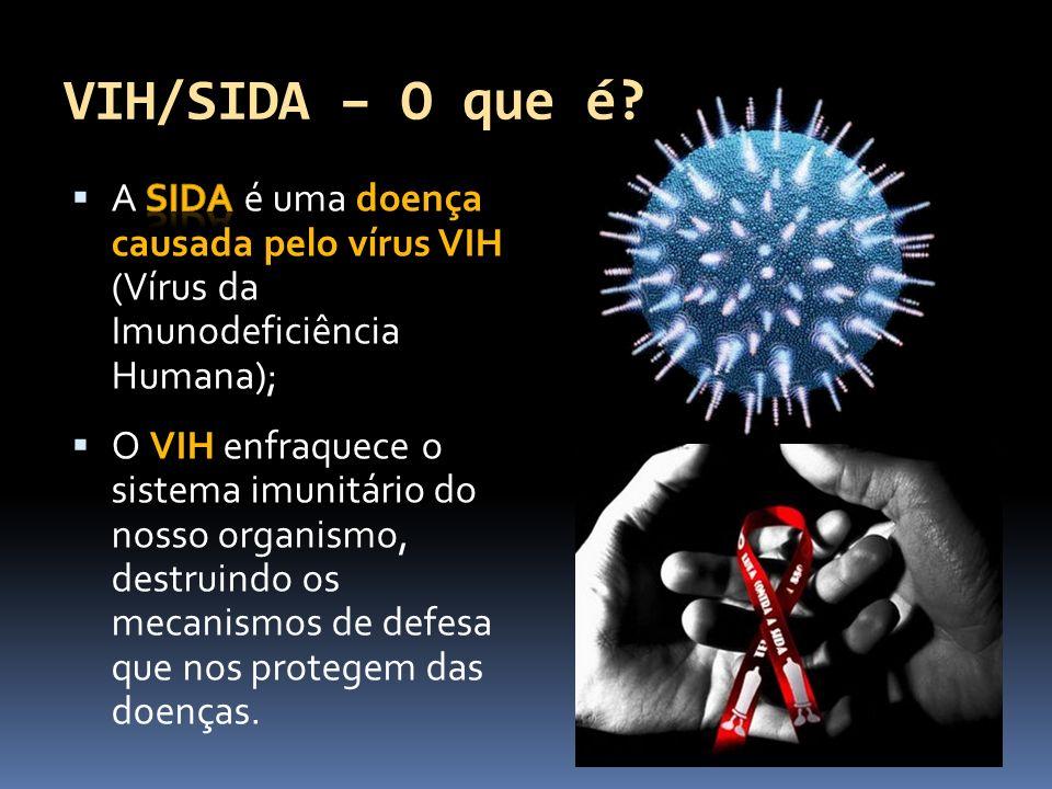VIH/SIDA – O que é A SIDA é uma doença causada pelo vírus VIH (Vírus da Imunodeficiência Humana);