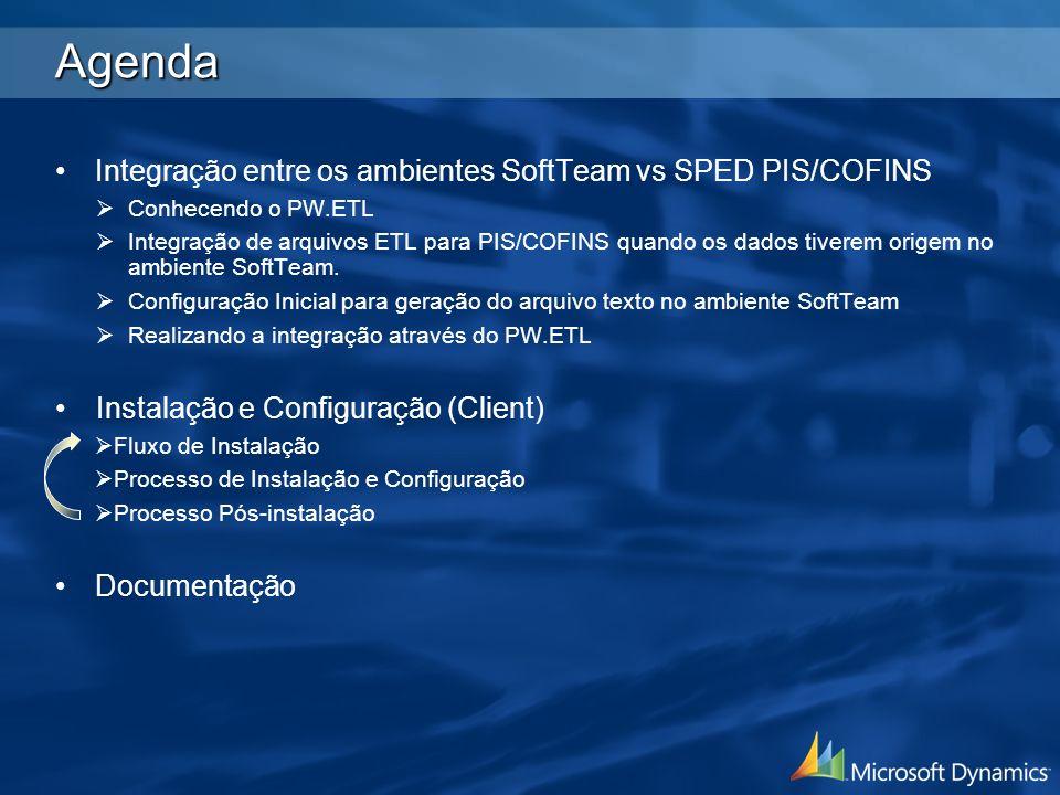 Agenda Integração entre os ambientes SoftTeam vs SPED PIS/COFINS