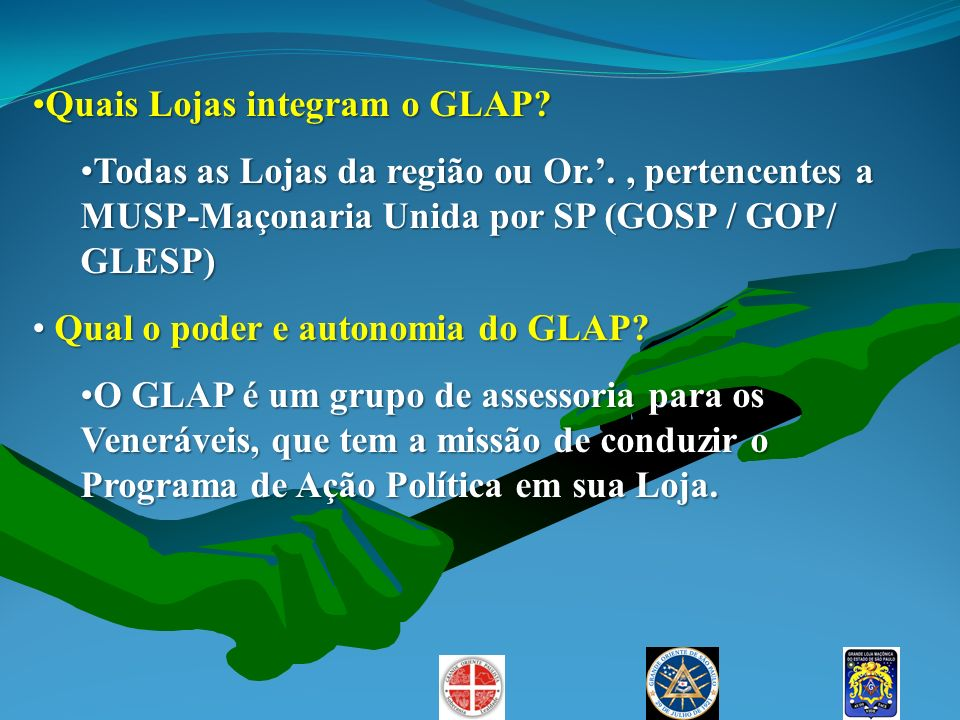 Quais Lojas integram o GLAP