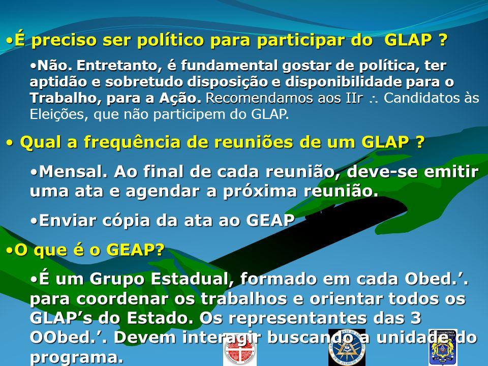 É preciso ser político para participar do GLAP