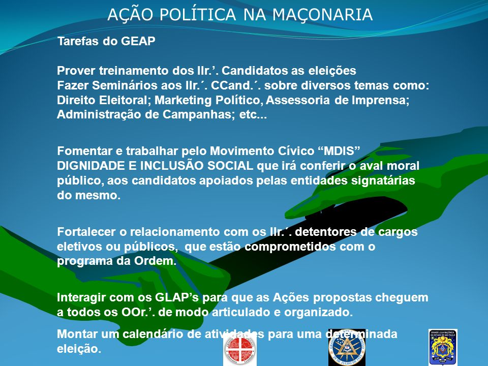 AÇÃO POLÍTICA NA MAÇONARIA