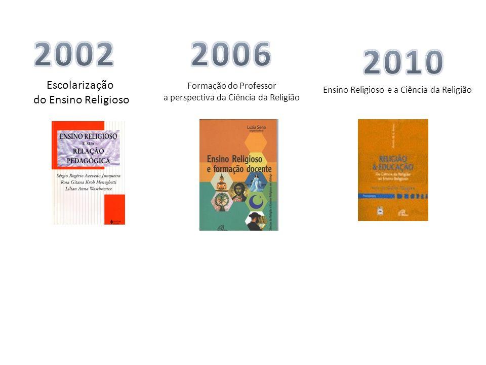 2002 2006 2010 Escolarização do Ensino Religioso Formação do Professor