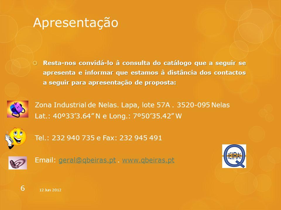 Apresentação Zona Industrial de Nelas. Lapa, lote 57A . 3520-095 Nelas