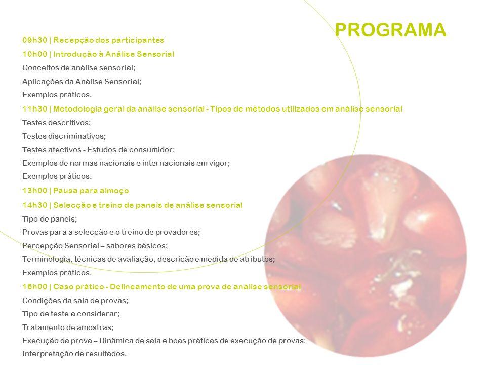 PROGRAMA 09h30 | Recepção dos participantes