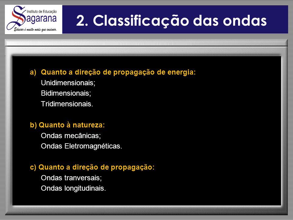 2. Classificação das ondas