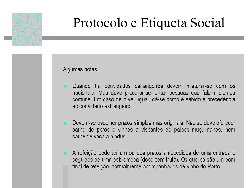 Protocolo e Etiqueta Social