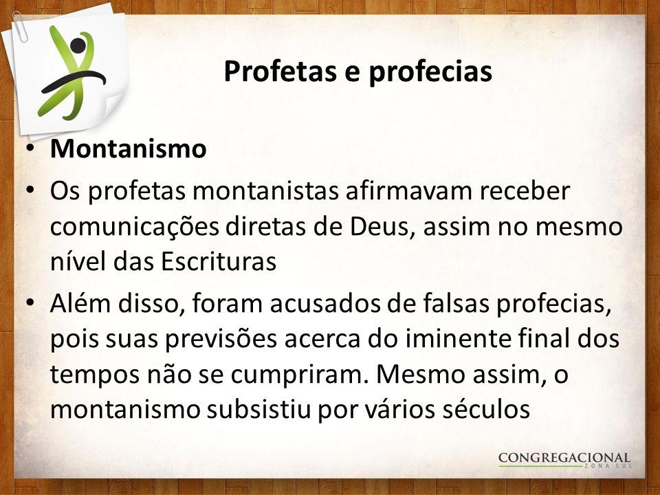Profetas e profecias Montanismo