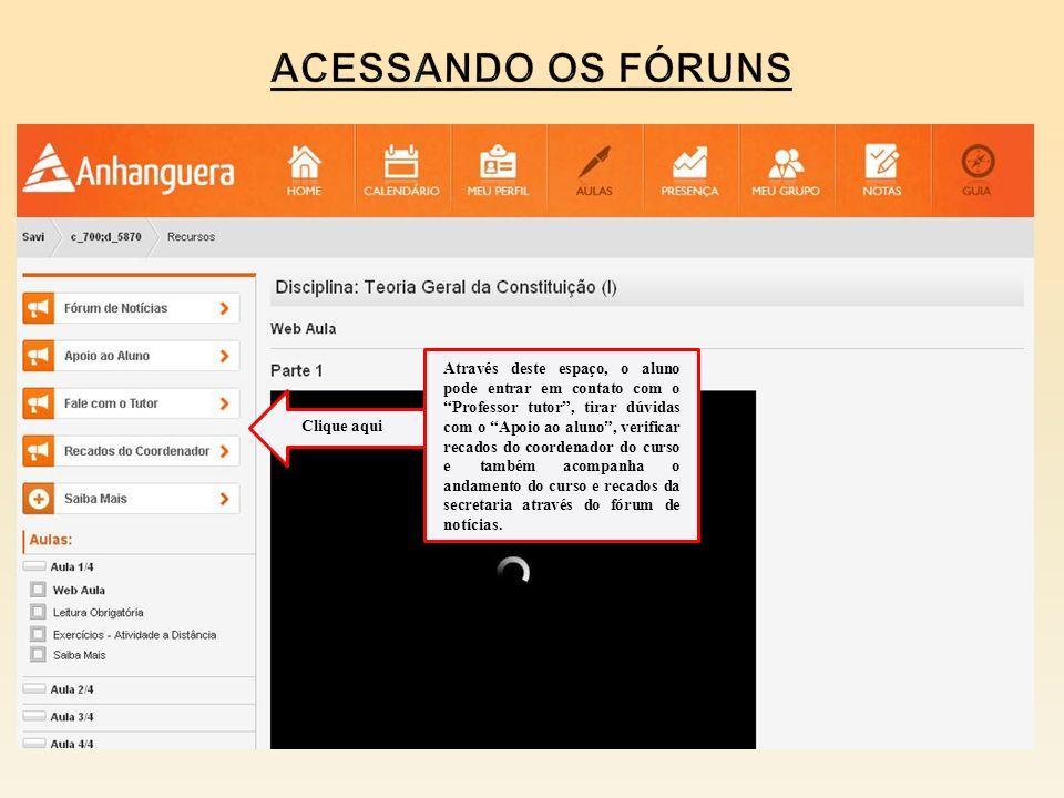 Acessando os fóruns