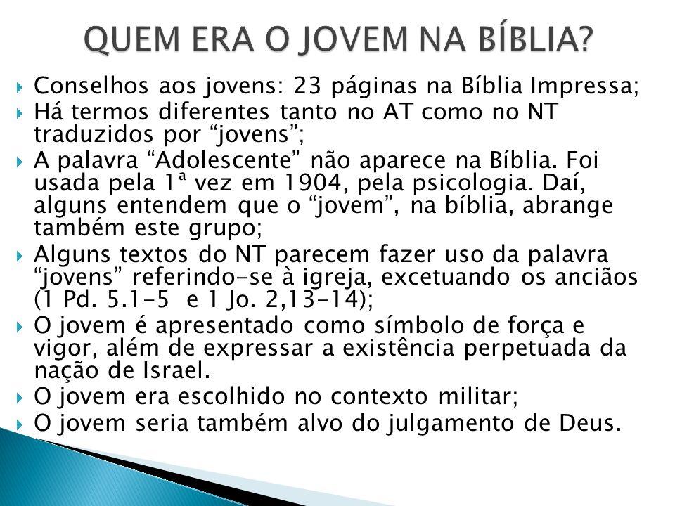 QUEM ERA O JOVEM NA BÍBLIA
