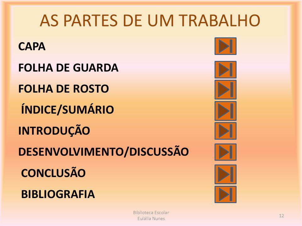 AS PARTES DE UM TRABALHO